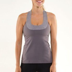 Lululemon Scoop Neck Grey Workout Tank Top